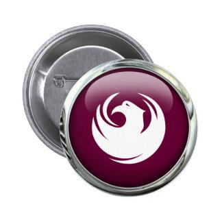 Phoenix Flag Glass Ball 6 Cm Round Badge