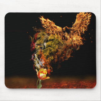 Phoenix Flower Mouse Pad
