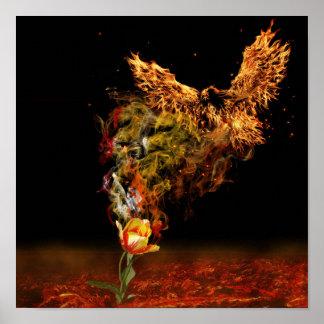 Phoenix Flower Poster