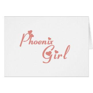 Phoenix Girl tee shirts Greeting Card