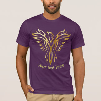 phoenix gold bird logo tshirt