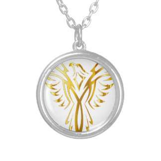 phoenix gold silver plated necklace