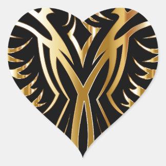 phoenix- heart sticker