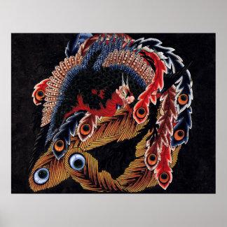Phoenix Hokusai Poster