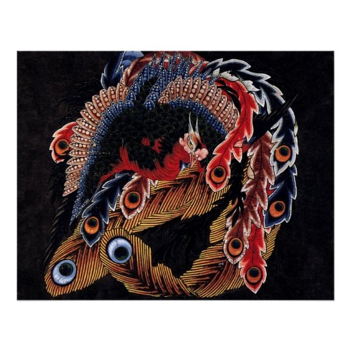 Phoenix, Hokusai Poster