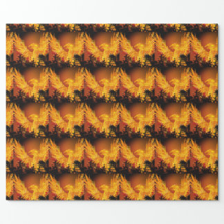 Phoenix in Flight Tile Wrapping Paper