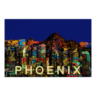 Phoenix in graffiti poster