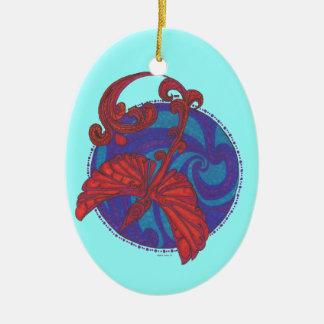 Phoenix Over Water Ornaments
