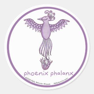 Phoenix Phalanx round stickers