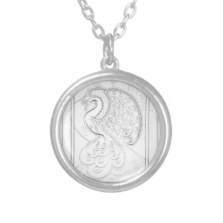 Phoenix reborn silver plated necklace
