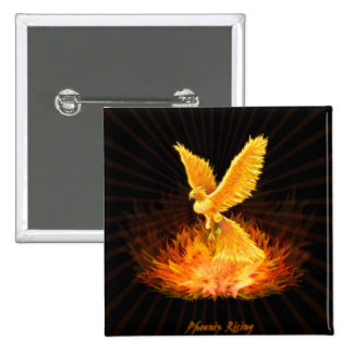 Phoenix Rising 15 Cm Square Badge
