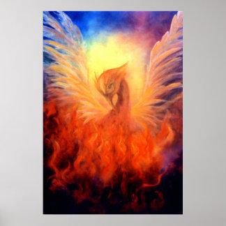 Phoenix Rising Art Print on Canvas