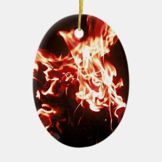 Phoenix rising ceramic ornament