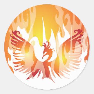 Phoenix Rising Classic Round Sticker