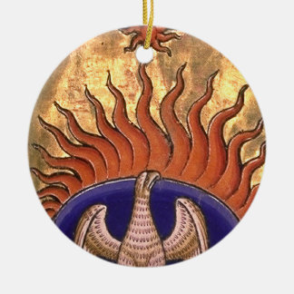 Phoenix Rising from the Ashes Ceramic Ornament