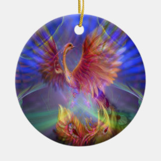 Phoenix Rising Round Ornament
