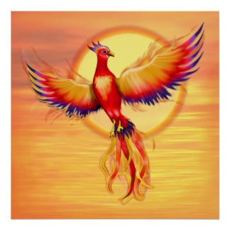 Phoenix Rising - Square Poster