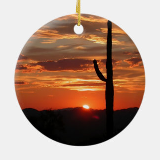 Phoenix Scenic Christmas Circle Ornament