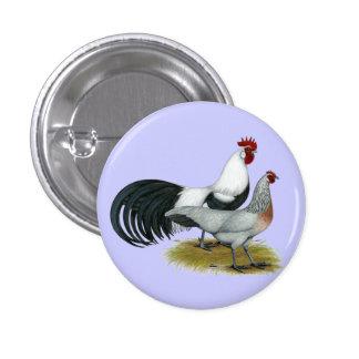 Phoenix:  Silver Duckwing Pair 3 Cm Round Badge
