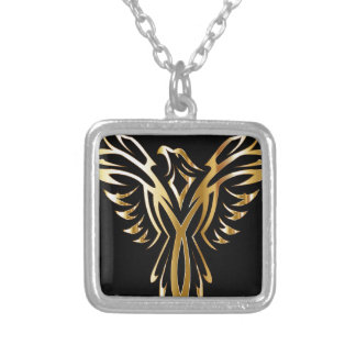 phoenix- silver plated necklace