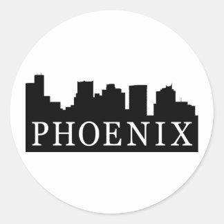 Phoenix Skyline Classic Round Sticker