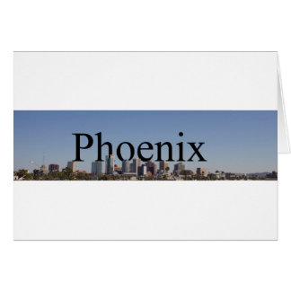 Phoenix Skyline with Phoenix in the Sky Note Card