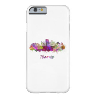 Phoenix V2 skyline in watercolor Barely There iPhone 6 Case