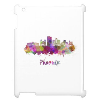 Phoenix V2 skyline in watercolor iPad Cover