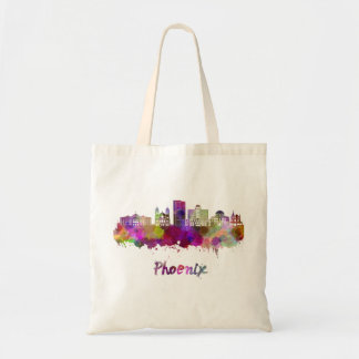 Phoenix V2 skyline in watercolor Tote Bag