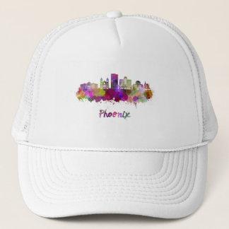 Phoenix V2 skyline in watercolor Trucker Hat