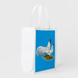 Phoenix:  White Pair Reusable Grocery Bag