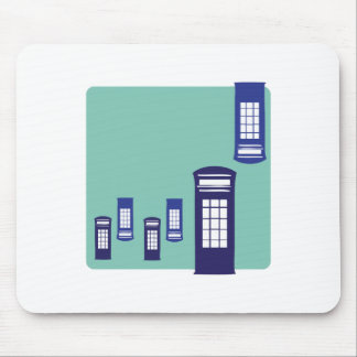 Phone Booth Mouse Pads