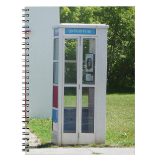 Phone Booth Spiral Notebook