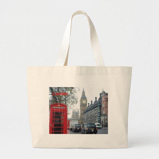 Phone Box London Big Ben (St.K) Tote Bags