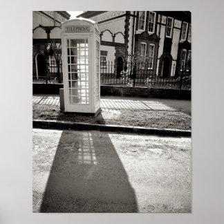 Phone Box, Salisbury Ave. [Art Print] B&W