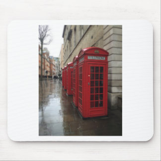 Phone boxes mouse pad