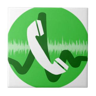 Phone Call Icon Ceramic Tile