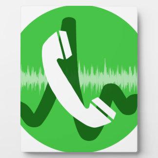 Phone Call Icon Plaque