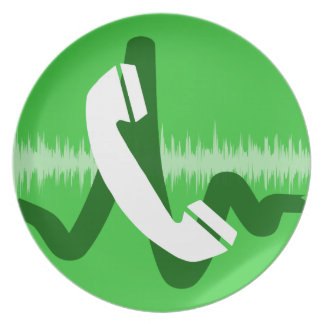Phone Call Icon Plate