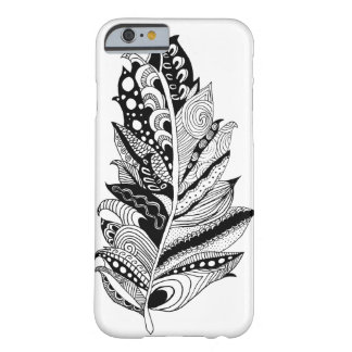 Phone Case -- Hand Drawn Feather Barely There iPhone 6 Case