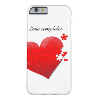 phone case love jigsaw puzzle heart design barely there iPhone 6 case
