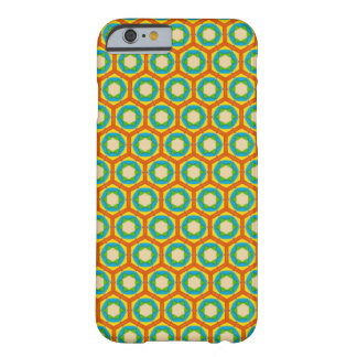 Phone Case - Orange and Blue Beehive Pattern Barely There iPhone 6 Case