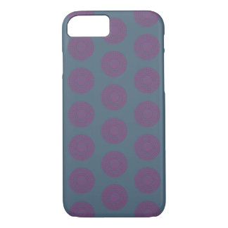 Phone case purple design raised dot circle pattern