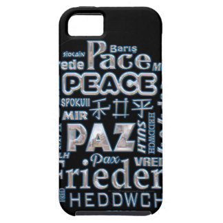 Phone case tough. Chrome peace in multi languages