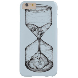 Phone case upright hourglass draining face