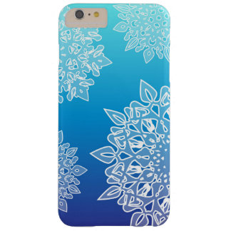 Phone case with blue gradient and ice crystals barely there iPhone 6 plus case