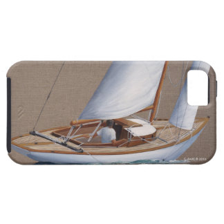 phone case with classic sailboat