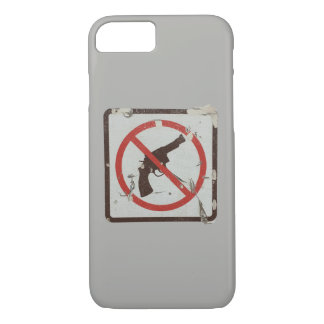 Phone case with old sign with graphic no guns