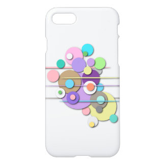 "Phone Case with ""Pastel Circles"" Design"