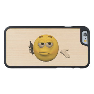 Phone emoticon carved maple iPhone 6 case